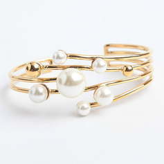 Anti-oxidation Cuff Bangles & Cuffs With Pearl -