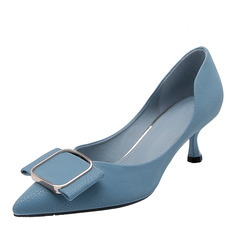Women's Microfiber Leather Stiletto Heel Pumps With Buckle shoes