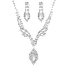 Ladies' Chic Rhinestones With Marquise Jewelry Sets