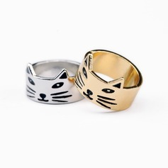 Lovely Alloy Unique Cat Ear Women's Fashion Rings Gifts