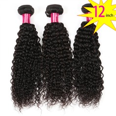 12 inch 8A Brazilian Virgin Human Hair Kinky Curly(1 Bundle 100g)