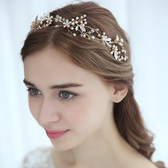 Ladies Amazing Alloy Headbands With Venetian Pearl (Sold in single piece)