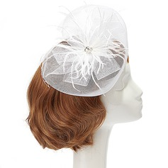 Elegant Netto Garn/Fjær Fascinators med Crystal