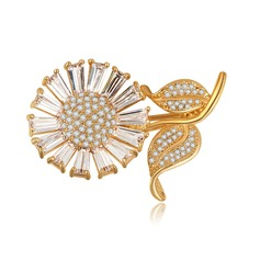 Unique Alliage/Zircon de Dames Broche