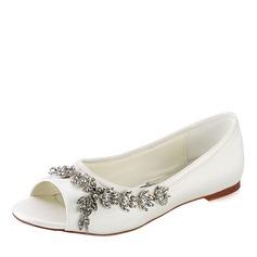 Women's Plastics Flat Heel Peep Toe With Applique