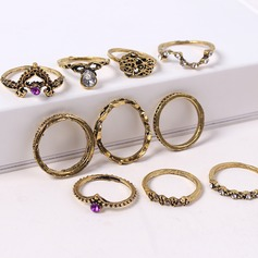 Fashional Alloy Rhinestones With Rhinestone Women's Fashion Rings (Set of 10 pairs)