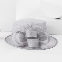 Dames Style Vintage Fil net avec Feather Chapeaux de type fascinator/Chapeaux Tea Party