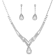 Classic Rhinestones/Copper With Rhinestone Ladies' Jewelry Sets