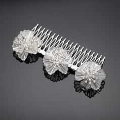 Flower Shaped Rhinestone/Alloy Combs & Barrettes