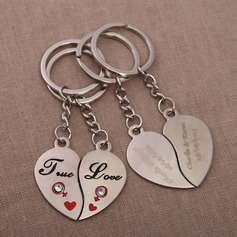 Personalized True Love Chrome Keychains