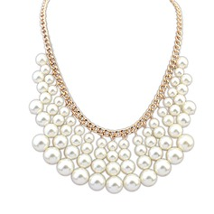 Unique Alloy With Imitation Pearl Ladies' Fashion Necklace