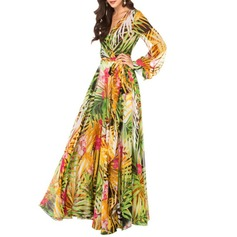 Chiffon With Print Maxi Dress (199129082)