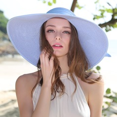 Ladies' Gorgeous/Elegant Raffia Straw With Bowknot Floppy Hat