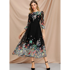 Polyester With Print Midi Dress (199207475)