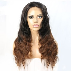 4A Non remy Wavy Human Hair Lace Front Wigs 250g (219145700)
