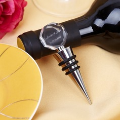Personalized Geometric Design Chrome Bottle Stopper (052029017)