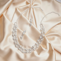 Gorgeous Alloy/Rhinestones With Pearl Jewelry Sets