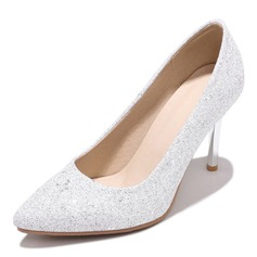 Women's Leatherette Stiletto Heel Pumps With Sequin