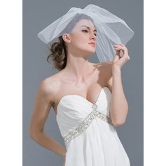 Two-tier Cut Edge Russian Veils