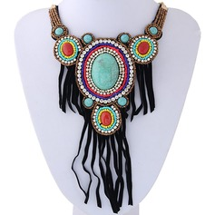 Chic Alloy Rhinestones Resin Cloth Ladies' Fashion Necklace