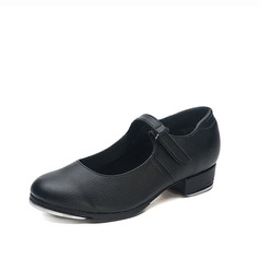 Kids' Real Leather Flats Tap Dance Shoes