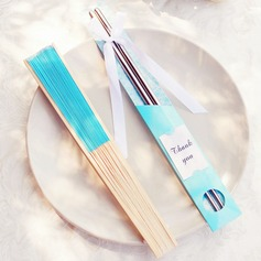 Aquq Blue Gift Set Chopsticks and Silk Hand Fan Wedding Souvenirs