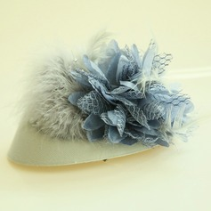 Ladies' Beautiful Feather/Silk Flower Fascinators