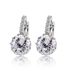 Fashional Alloy Zircon With Zircon Ladies' Fashion Earrings