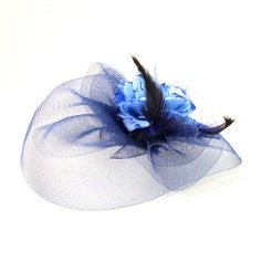 Beautiful Feather/Net Yarn/Silk Flower Fascinators