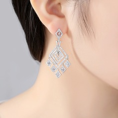 Chic Copper/Zircon Earrings