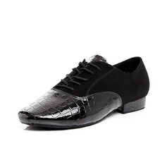 Men's Leatherette Modern With Lace-up Dance Shoes