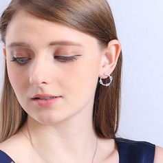 Shining Copper/Zircon/925 Sterling Silver/Imitation Pearls Ladies' Earrings