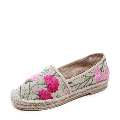 Women's Flat Heel Flats Closed Toe With Satin Flower shoes