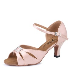 Women's Satin Heels Latin Dance Shoes (274214974)