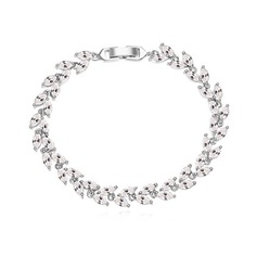 Nice Zircon/Platinum Plated Ladies' Bracelets