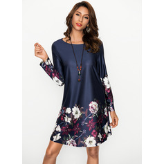 Polyester With Print Knee Length Dress (199170040)