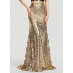 Trumpet/Mermaid Sweep Train Sequined Prom Skirt
