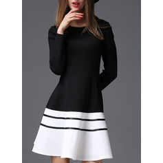 Cotton With Stitching Above Knee Dress (199132126)