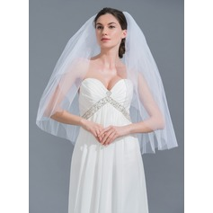 Two-tier Cut Edge Elbow Bridal Veils (006115464)