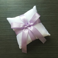 Lovely Ring Pillow in Satin With Ribbons/Bow