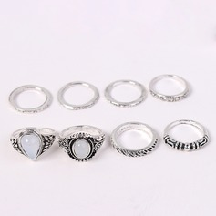Fashional Alloy Acrylic With Acrylic Women's Fashion Rings (Set of 8 pairs)