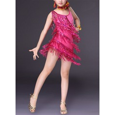 Enfants Tenue de danse Spandex Danse latine Robes