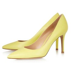 Patent Leather Cone Heel Pumps Closed Toe schoenen