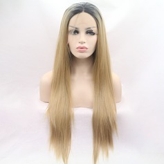 Straight Synthetic Hair Lace Front Wigs 380g