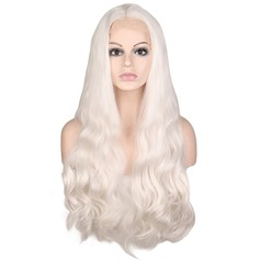 Loose Wavy Synthetic Hair Lace Front Wigs 350g