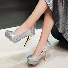 Women's Sparkling Glitter Stiletto Heel Pumps Closed Toe With Sparkling Glitter shoes (085112137)