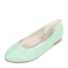 Women's Silk Like Satin Flat Heel Flats With Others