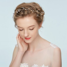 Ladies Elegant Alloy Headbands With Rhinestone/Venetian Pearl (Sold in single piece)