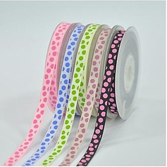 2/5-Inch Dot Satin Ribbon