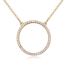 Classic Copper/Zircon/Gold Plated/Silver Plated/Rose Gold Plated With Cubic Zirconia Necklaces